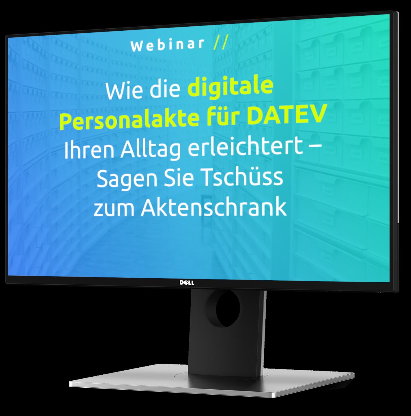 Kostenloses Webinar am 28.09.21 zur digitalen Personalakte für DATEV