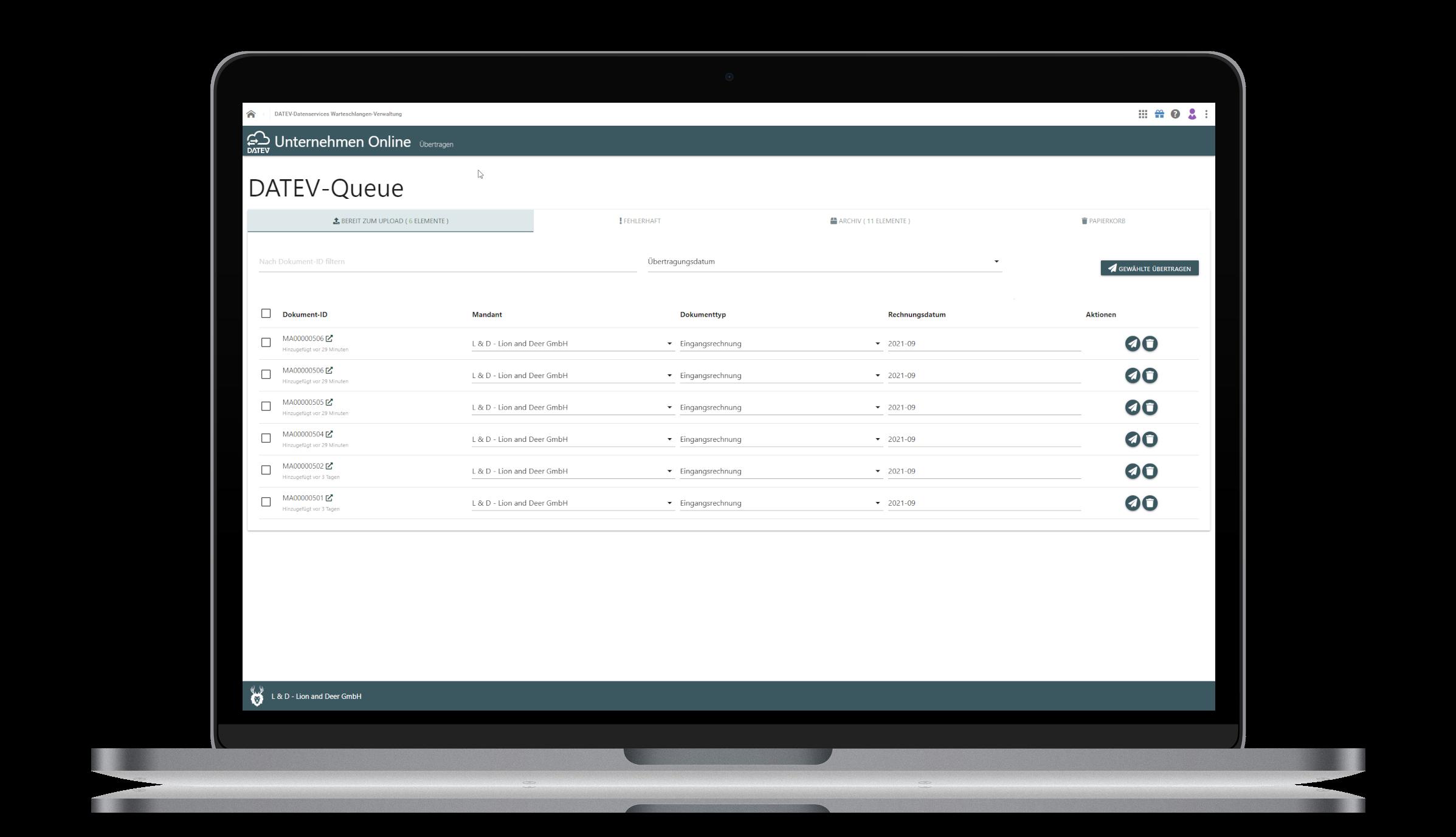 LD connect für DATEV Unternehmen Online