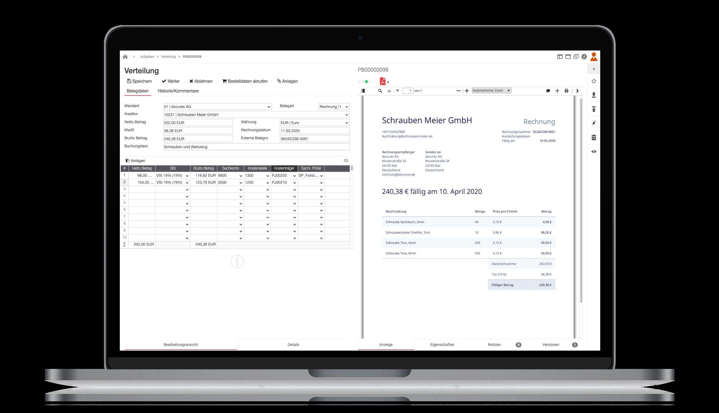 d.velop smart invoice