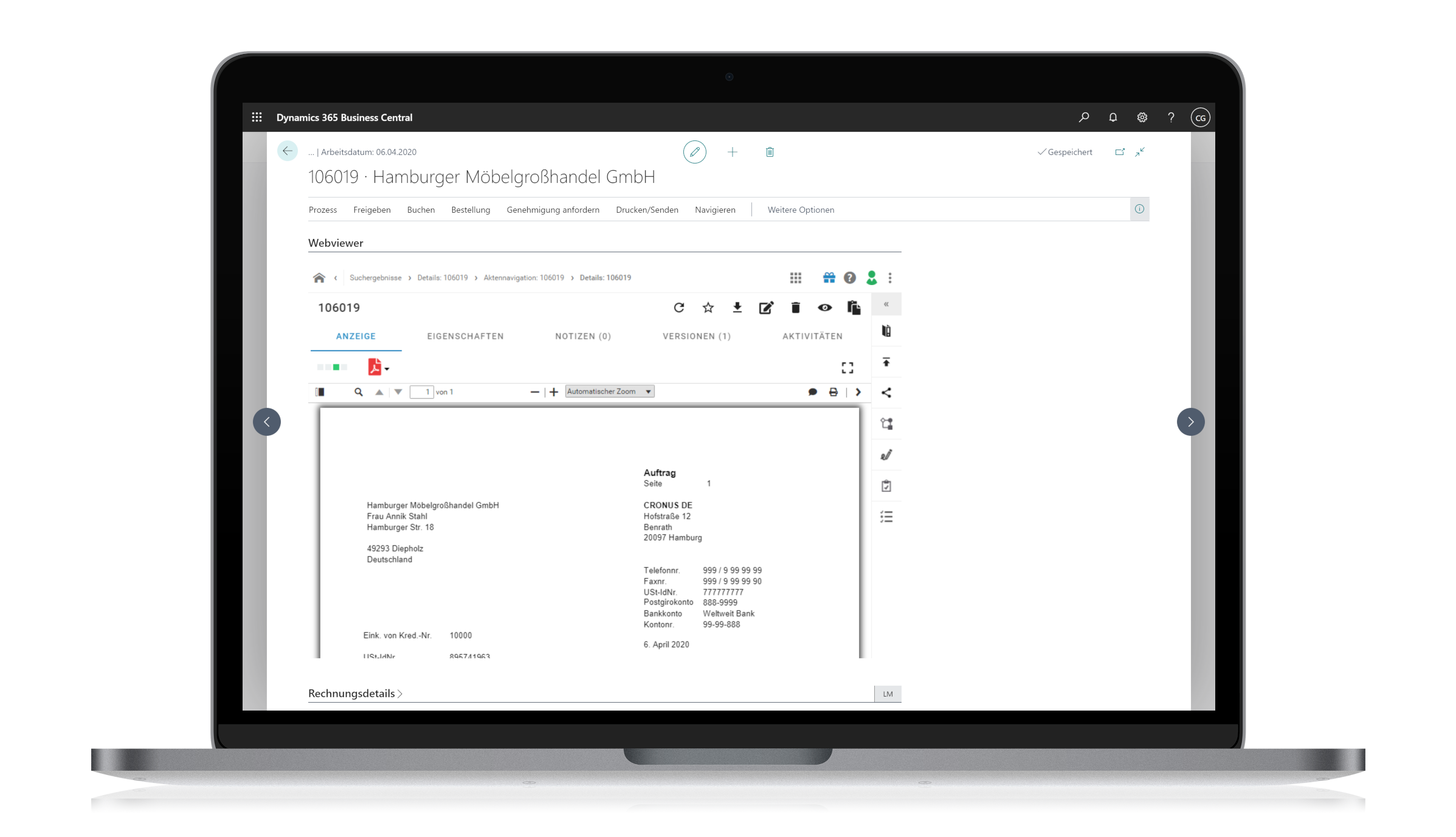 d.velop connect for Microsoft Dynamics 365 Business Central