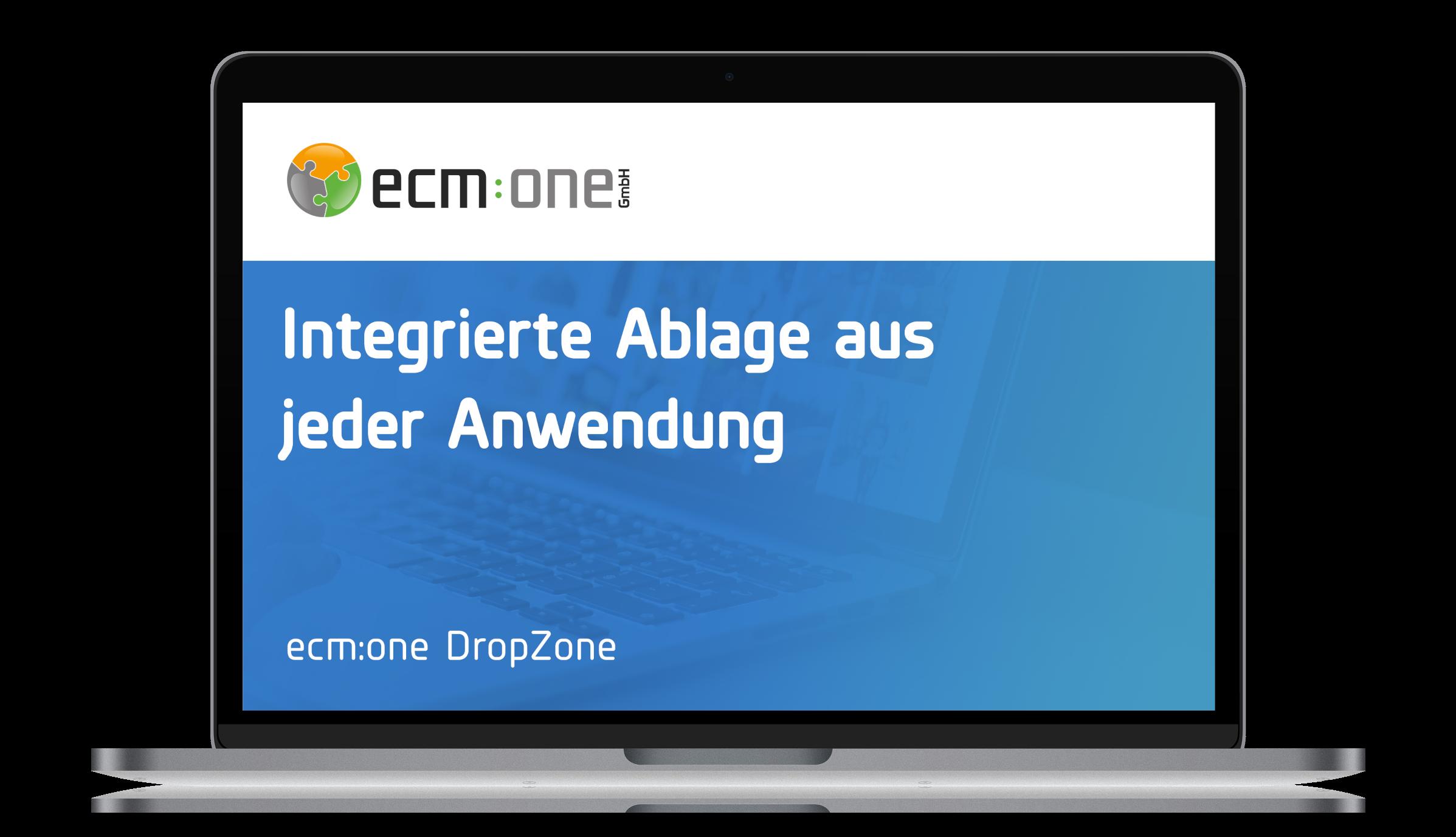 ecm:one DropZone