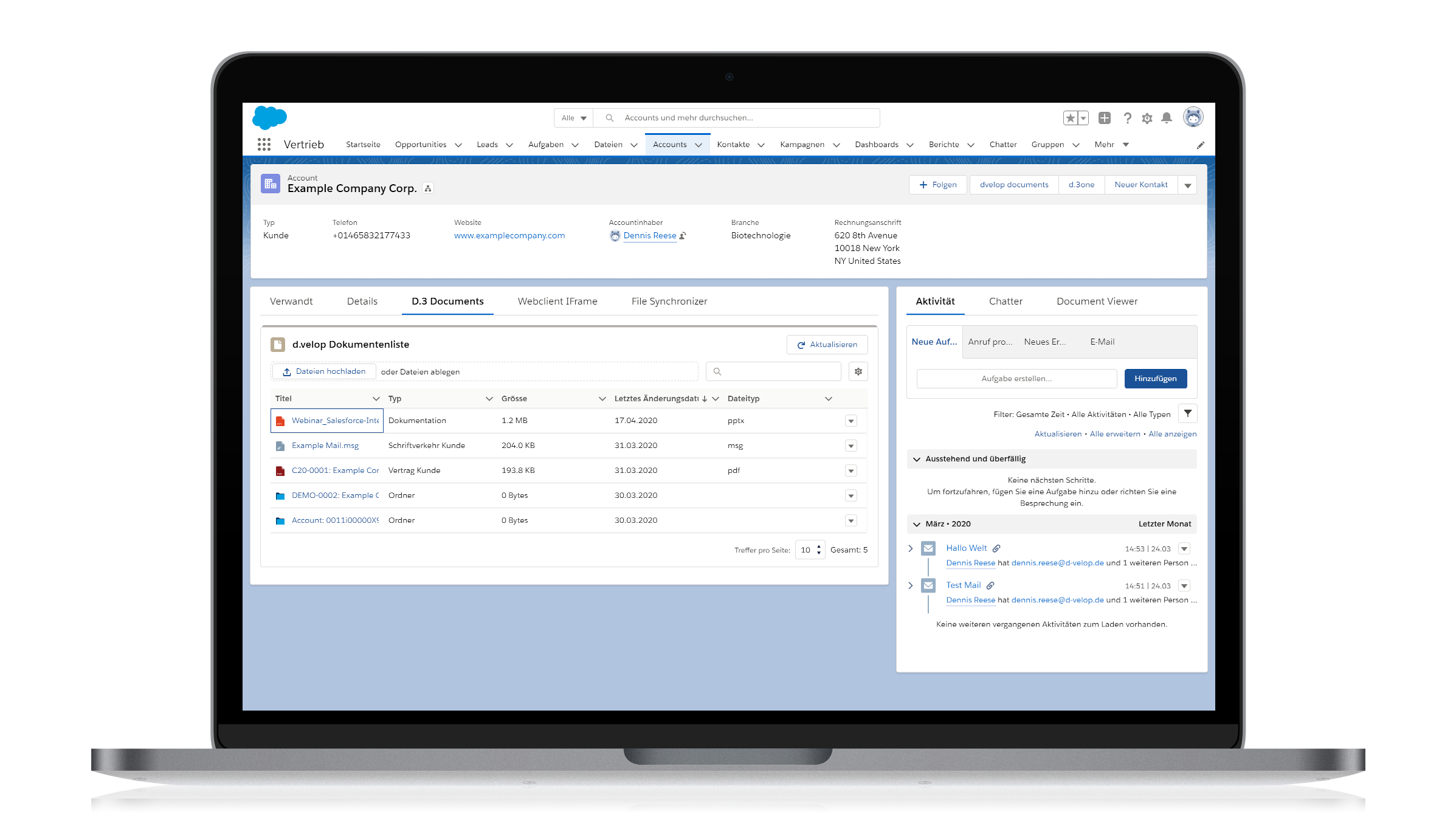 d.velop connect for Salesforce CRM