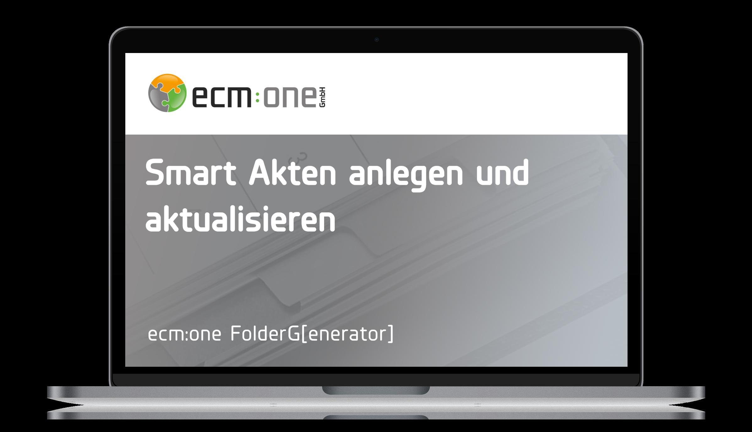 ecm:one FolderG[enerator]